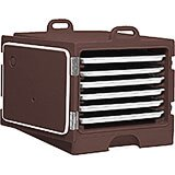"Dark Brown, Stackable Carrier for 18"" X 26"" Trays and Sheet Pans"