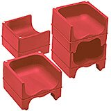 Hot Red, Dual Height Booster Seat, No Strap, 4/PK