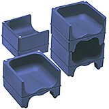 Navy Blue, Dual Height Booster Seat, No Strap, 4/PK