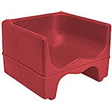 Hot Red, Dual Height Booster Seat, No Strap, 1/PK