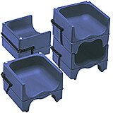 Navy Blue, Dual Height Booster Seat with Strap, 4/PK
