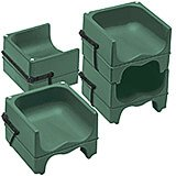 Green, Dual Height Booster Seat with Strap, 4/PK