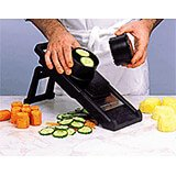 Black, Fiberglass Mandolin Slicer 2000S With Safety Pusher