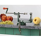 Green, Stainless Steel Apple Peeler, Corer & Slicer W/ Suction Cup