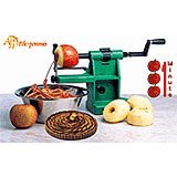 Green, Exoglass Apple Peeler, Corer & Slicer