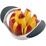 White, Stainless Steel Apple Slicer, Rubber Handles