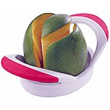 White, Stainless Steel Mango Slicer And Pitter, Rubber Handles