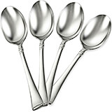 Stainless Steel, 18/10 Steel Angelico Silverware Set, Teaspoon, 4/PK
