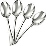Stainless Steel, 18/10 Steel Angelico Silverware Set, Soup Spoon, 4/PK
