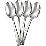 Bellasera Soup Spoon Replacement Flatware, Stainless Steel Mirror Finish, 12/PK