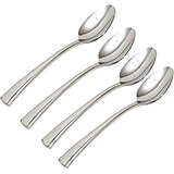 Stainless Steel, 18/10 Steel Bellasera Silverware Set, Espresso Spoon, 4/PK