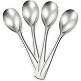 Stainless Steel, 18/10 Steel Bellissimo Silverware Set, Teaspoon, 4/PK