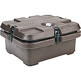 Dark Brown, Top Loading Insulated Food Carrier, Half Size Pans