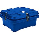 Navy Blue, Top Loading Insulated Food Carrier, Half Size Pans