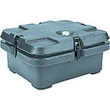 Slate Blue, Top Loading Insulated Food Carrier, Half Size Pans