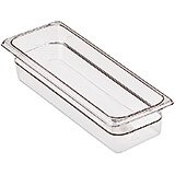 "Clear, 1/2 GN Long Food Pan, 4"" Deep, 6/PK"