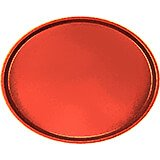 Signal Red, Restaurant Oval Tray, Fiberglass, 6/PK