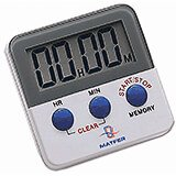 Plastic 20 Hour Digital Timer, Magnetic Back & Clip