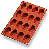 Silicone Gastroflex Oval Petit Fours Baking Mold