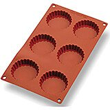 Silicone Gastroflex Fluted Mini Tart Pan, Sheet Of 6