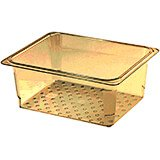 "Amber, High Heat Perforated Pan / Colander, GN 1/2, 5"" Deep, 6/PK"