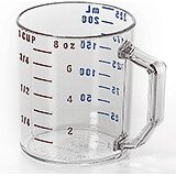 Clear, Camwear Measuring Cups, 1 Cup Measure, 12/PK