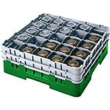 "Sherwood Green, 20 Comp. Glass Rack, Full Size, 3-5/8"" H Max."