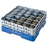 "Blue, 25 Comp. Glass Rack, Full Size, 10-1/8"" H Max."