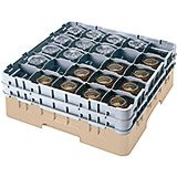 "Beige, 25 Comp. Glass Rack, Full Size, 9-3/8"" H Max."
