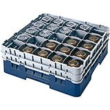 "Navy Blue, 25 Comp. Glass Rack, Full Size, 4.5"" H Max."