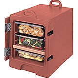 Brick Red, Insulated Front Loading Food Carrier, Full Size Pans