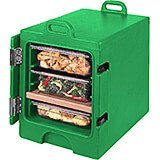 Green, Insulated Front Loading Food Carrier, Full Size Pans