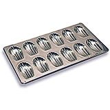 Tinplate Heavy Duty Madeleine Baking Pan, 12 Cups