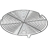 Steel Round Cooling Rack, 11""
