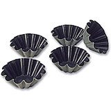 "Steel Exopan Non-stick Baking Mold 12 Ridges, 2.37"", 25/PK"