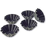 "Steel Exopan Non-stick Baking Mold 10 Ridges, 3.5"", 12/PK"
