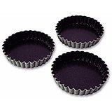 "Steel Exopan Fluted Tartlet Baking Pan, 4.12"" Diam., 12/PK"