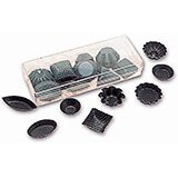 Clear, Plastic Individual Mini Chocolate Molds, Assorted Shapes, 50/PK