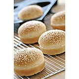 Gray, Silicone Silform Hamburger Bun Mold