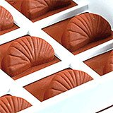 Silicone Candy / Chocolate Mold, Tangerine Slice Shape
