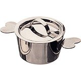 Stainless Steel Round Baking Pan With Lid For Charlotte Desserts, 2.75""