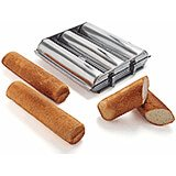 Stainless Steel Bread Loaf Pan, 3 Compartments, 1.75""