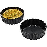 "Black, Exoglass Small Pie Pan, Fluted Sides, 4"", 12/PK"