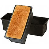 Black, Exoglass Bread Loaf Pan, 10.5""