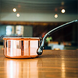 Copper, Saucepan, 9.5""