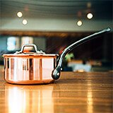 Copper, Saucepan With Lid, 9.5""