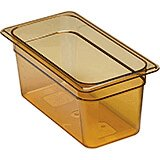 "Amber, 1/3 GN High Heat Food Pan, 6"" Deep, 6/PK"
