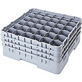 "Soft Gray, 36 Comp. Glass Rack, Full Size, 6-1/8"" H Max."