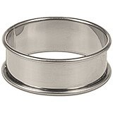 "Stainless Steel Shallow Flan / Dessert Ring Mold, 2.37"", 6/PK"