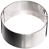 Stainless Steel Ice Cream Or Cake Ring Mold, 10.75""